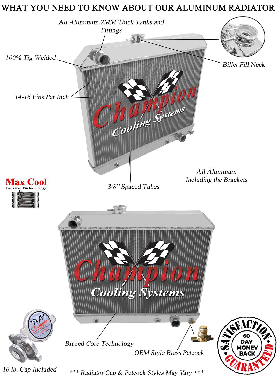 4 Row Atom Champion Radiator